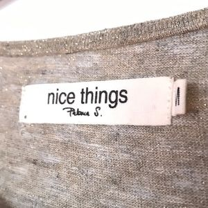 NICE THINGS by Paloma S Sweaters - NICE THINGS Paloma S Metallic Sweater Top NWOT